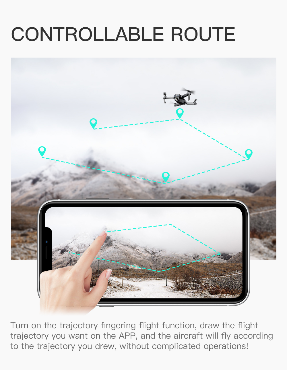 Drone with Camera Hd 4K 2.4GHZ WIFI FPV Quadrccopter Gesture Selfie Optical Flow RC Mini Drone Quadcopter for Toy Gift Vs E58 E6