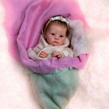 Rbg bebe kit renascer bebê kit de vinil 18 polegadas tink unpainted inacabado peças boneca diy em branco reborn kit de boneca de vinil