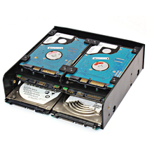 Bevigac 5.25 אינץ 3.5 אינץ 2.5 אינץ HDD SSD כונן הרכבה מתאם ממיר מחזיק מגש סוגר פנימי אבזרים