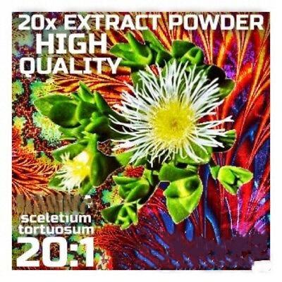 Kanna (Sceletium Tortuosum) 20x Extract Powder [5 Grams-10 Grams]