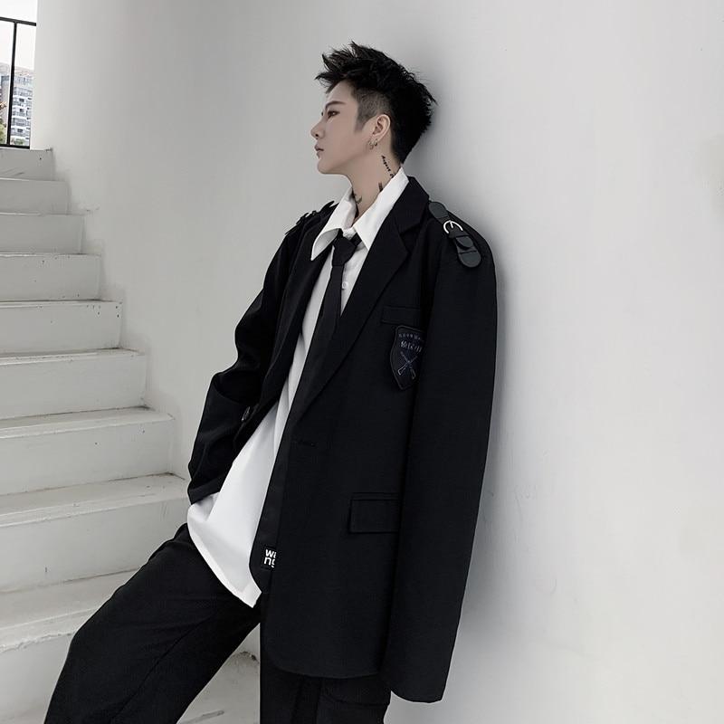 Japan Street  Casual Suit Blazer Jacket Men College Overcoat Spring Autumn Male Suit Coat Outerwear Blazer Jacket Suit Men B75