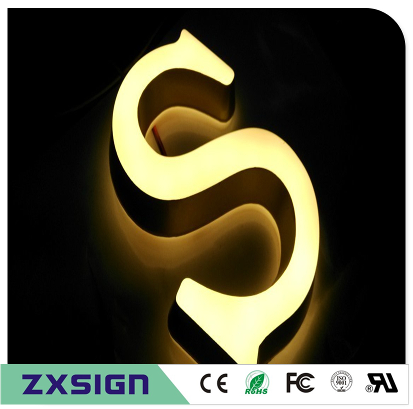 Factory Outlet 3D Advertising Acrylic Illuminated Signboard, High-end Advertising Led Characters For Slogans Logos