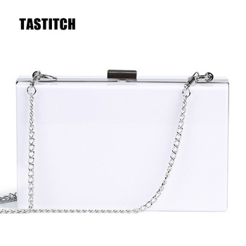 Classic White Acrylic Bags Box Wallet Day Clutch Bags Women Messenger Shoulder Bags Wedding Party Prom Evening Clutches Handbags lace wedding women handbags diamonds metal day clutches purse evening bags messenger chain shoulder handbags