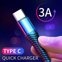 Cable de iluminación USB tipo C, Cable Microusb de carga rápida 3A para iPhone 12, Samsung, Xiaomi, Cable de sincronización de datos para teléfono móvil