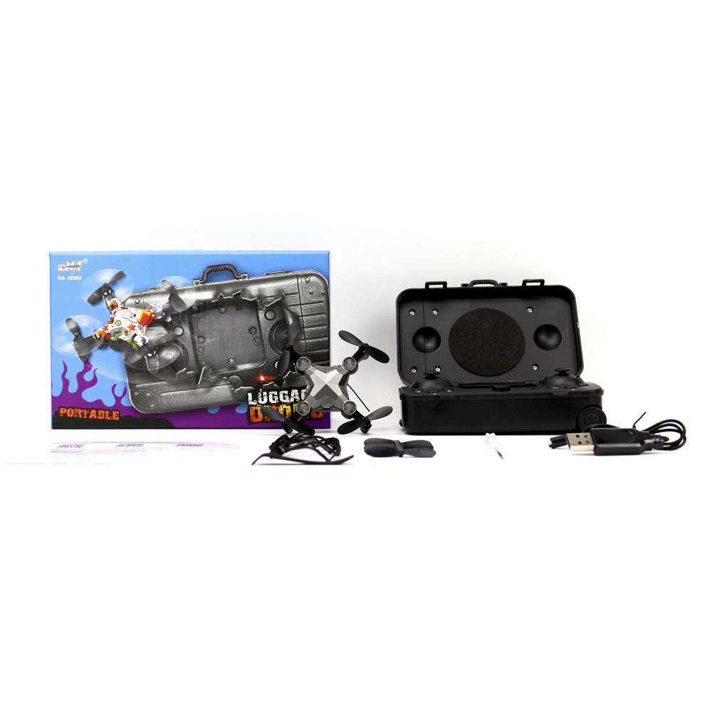 Douyin Dh120 Luggage Unmanned Aerial Vehicle Wifi Aerial Photography Gesture Photo Shoot Aircraft Remote Control Toy