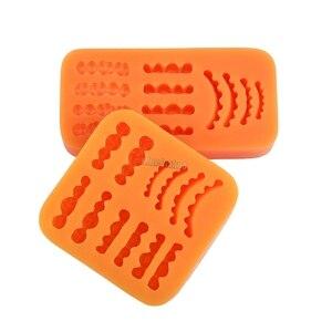 Image 5 - Frete Grátis 1Pcs filme figura de cera base de modelo de laboratório dental laboratório de prótese de cera de borracha dente modelo molde invertido