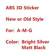 3D ABS noir argent carrosserie côté garde-boue arrière coffre Badge décalcomanie lettres Logo étiquetage emblème pour Benz AMG autocollant voiture style
