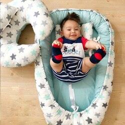 Cuna de bebé portátil de 80x50cm, cuna de viaje desmontable y lavable, cuna de algodón para bebé recién nacido