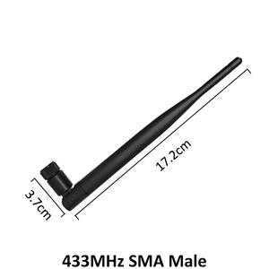 Image 2 - 433 Mhz のアンテナ 5dbi SMA オスコネクタ折りたたみ 433 mhz antena 防水指向性 antenne + 21 センチメートル RP SMA/u。FL ピグテールケーブル