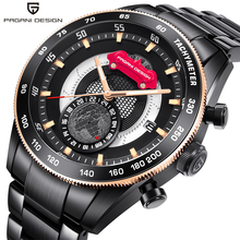 PAGANI DESIGN 2019 Luxury Brand Sport Watches Men Luminous calendar Full Stainless Steel Quartz Watch Clocks Relogio Masculino pagani design luxury brand watches men waterproof silicone strap fashion quartz simple watch chinese dragon calendar relogio new