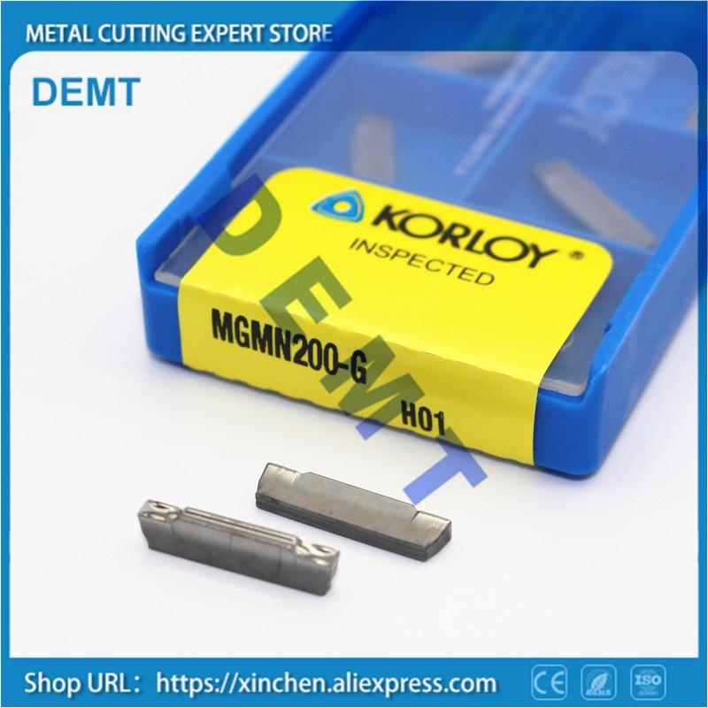 10× MGMN400-M PC9030 CNC Carbide Insert  wide cutting blade  KORLOY 60/%-80/% CNC