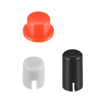Uxcell 50 sztuk przełączniki czapki plastikowe 4 6 #215 5 5 5x9mm zatrzaskowy przycisk dotykowy pokrywa Keycaps Protector dla 6x6x7 3mm przełączniki taktowe tanie i dobre opinie plastic