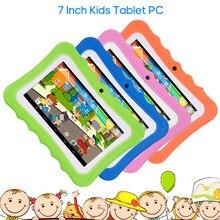 Tablet per bambini da 7 ''PC 1G + 16G Quad-Core Wi-Fi Tablet-PC Pad con custodia protettiva in Silicone antiurto per regalo educativo per bambini