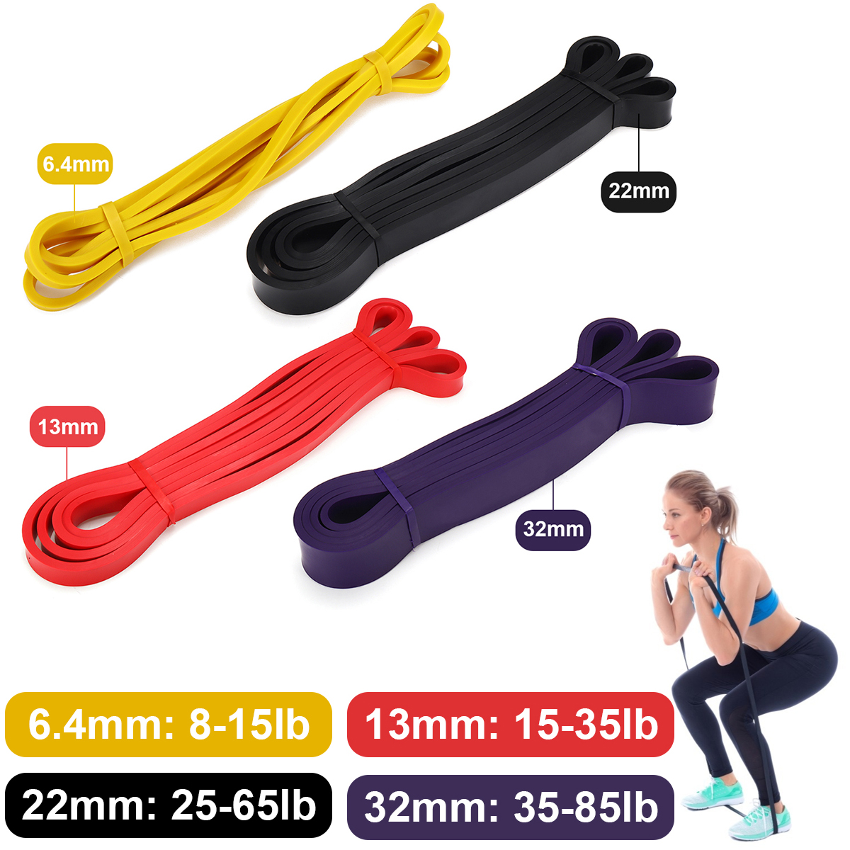 Elastic Resistance Band Exercise Yoga Rubber for Training Pull Rope Loop Strength Fitness Band Workout Home Gym Sport Equipment image