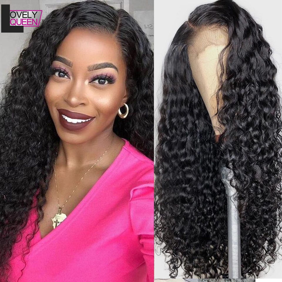 Water Wave Wig 13x6 Lace Front Human Hair Wigs Brazilian Remy Hair Curly Human Hair 150/180 Density Lace Front Wigs for Women