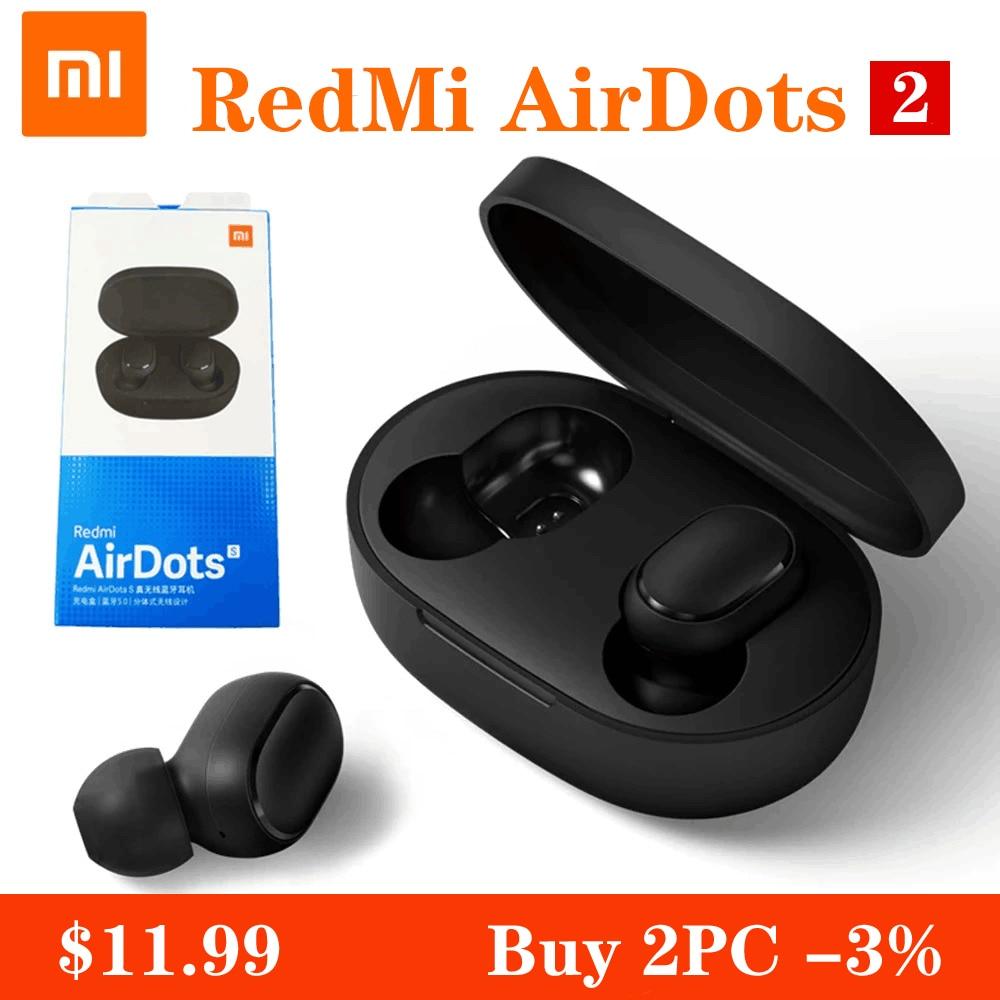 Xiaomi Redmi Airdots S-auriculares TWS, inalámbricos por Bluetooth, auriculares con Control IA y micrófono para videojuegos y reducción de ruido