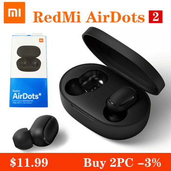 Xiaomi Redmi Airdots S Bluetooth Earphones TWS Wireless Bluetooth Earphone AI Control Gaming Headset With Mic Noise Reduction