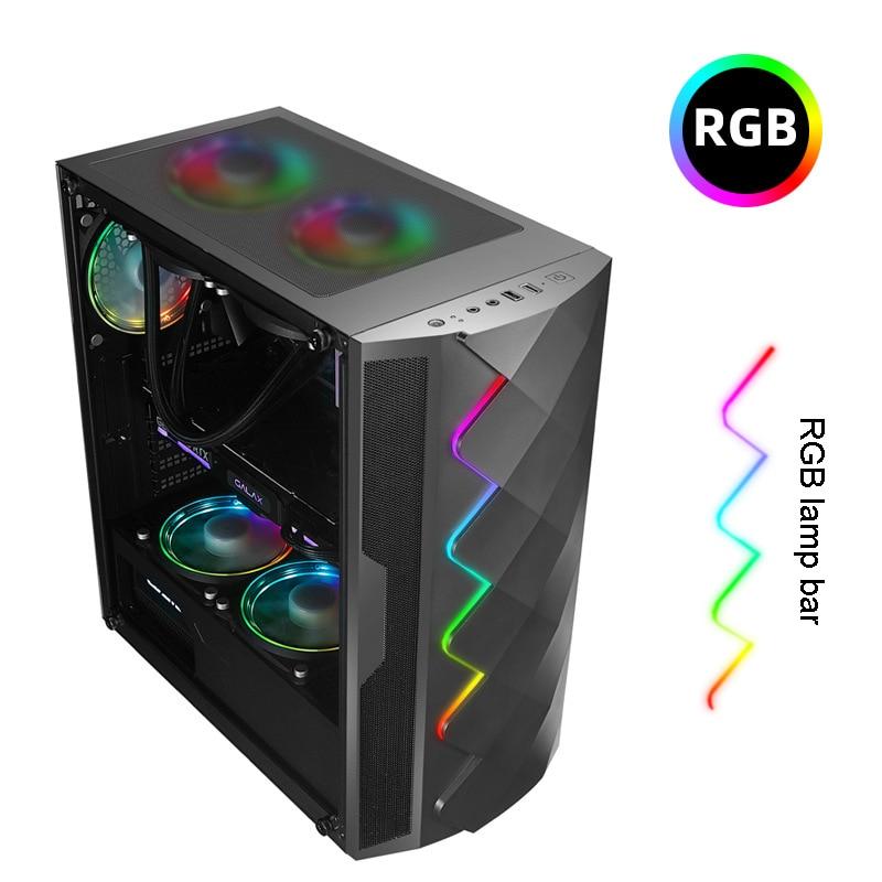 36*21*44CM DIY Gaming Computer RGB PC Chassis Case Side transparent Tempered Glass gabinete gamer computadora MicroATX,ATX,ITX 2