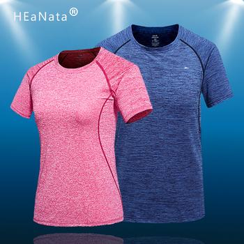 Męskie koszulki do biegania szybka kompresja na sucho t-shirty sportowe Fitness Gym koszulki do biegania koszulki piłkarskie kobiety mężczyźni Jersey Sportswear tanie i dobre opinie HEaNata Wiosna Poliester Pasuje prawda na wymiar weź swój normalny rozmiar