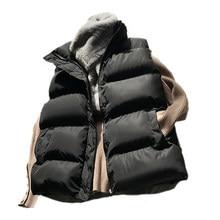 Coton bas gilet femmes 2020 hiver gilet ample tout-Match gilet veste coton rembourré veste sans manches femme hiver gilet
