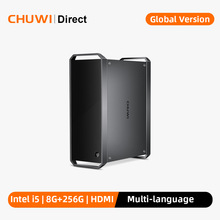 Chuwi corebox, windows 10 mini pc, intel core i5, mini desktop, 4k decodificação, 8gb ram, 256gb ssd, gigabit ethernet, 2.4g/5g wifi