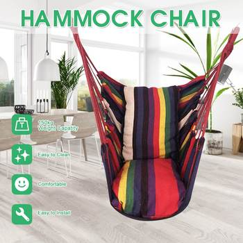 Portable Swing Seat Hammock Chair Swing Chair Patio Swing Outdoor Garden Hanging Chair Travel Camping Hammock Silla Colgante