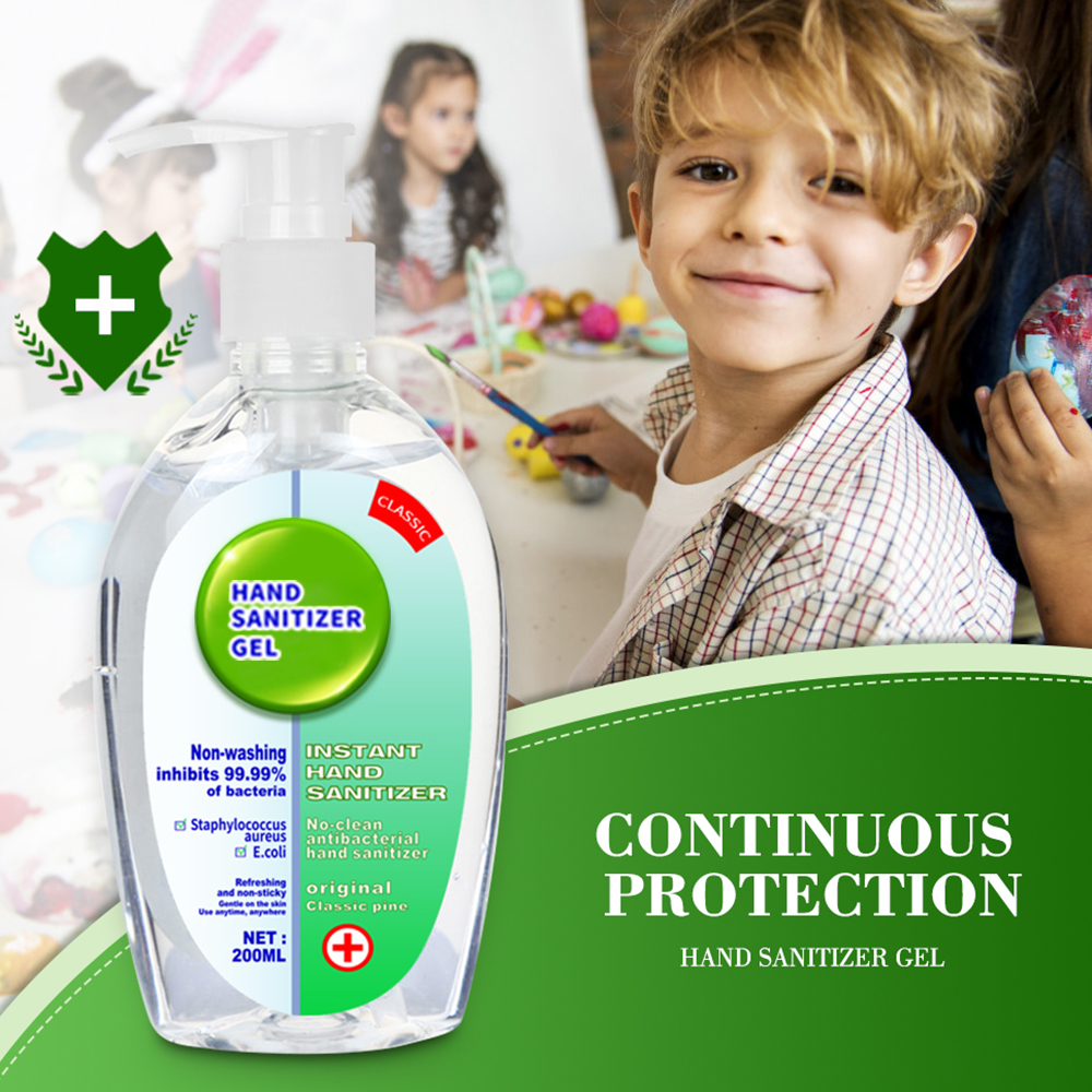 200ml Hand Sanitizer Soap Disposable Waterless Hand Gel Soap 75% Alcohol Disinfection Gel Antibacterial For Children Family