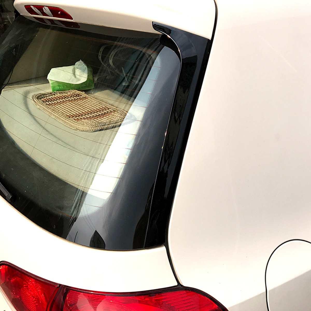 Paire brillant noir fenêtre arrière côté becquet Canard Canards séparateur pour VW Golf 6 MK6 2008-2013 pas adapté pour Golf 6 GTI/R!!!