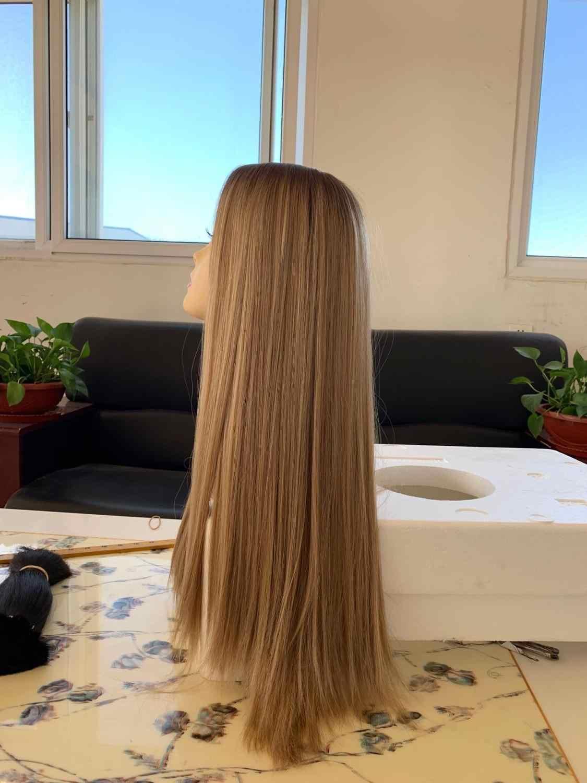 Tsingtaowigs Custom made naturalne włosy europejskiej nieprzetworzone włosy 24 cal prosto peruka żydowska najlepsze Sheitels peruki darmowa wysyłka