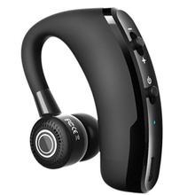 V9 громкой связи Bluetooth гарнитура для Беспроводной Бизнес Bluetooth гарнитура с микрофоном для водителя спортивные Портативный 180 ° Регулируемый ...