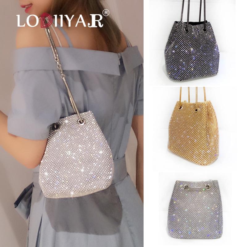 Women Diamonds Bag Rhinestone Shoulder Bags Ladies Purse Handbags Clutch Evening/Party/Wedding Bags Black Birthday Gift Women