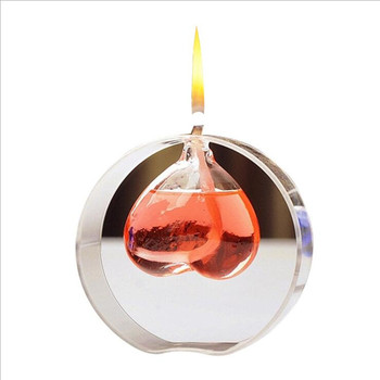 10pcs/pack Heart Shaped Glass Oil Lamp Wedding Decoration Glass Love Handcraft Glass Oil Lamp Friend Gift Glass Candle Holder