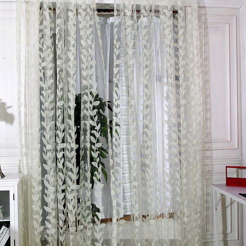 2-1 м х 2 м двери окна шарф прозрачные листья напечатанные занавески драпировка панель тюль вуаль подзоры смотреть на Алиэкспресс Иркутск в рублях