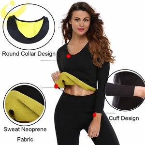 Image 2 - Женская Неопреновая рубашка LAZAWG, Топ с длинным рукавом для фитнеса, похудения, сжигания жира на талии
