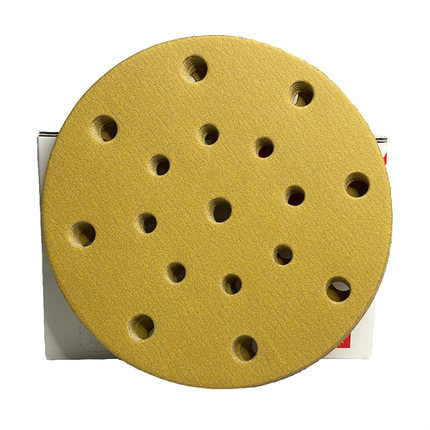 Dry sanding paper 6 inch 17 hole automobile dry grinding paint polishing yellow sand paper air mill planting circle 2000