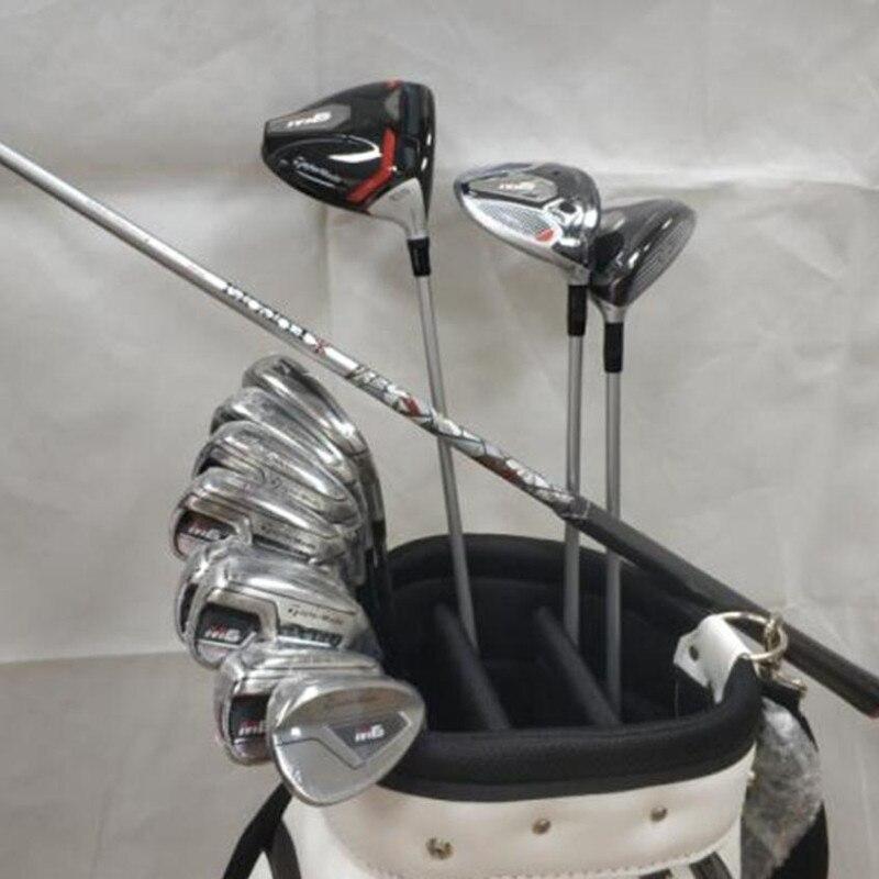 2019 M6 Golf ensemble complet M6 Golf Clubs pilote + Fairway Woods + fers + putter Graphite/acier arbre avec couvre-tête pas de sac