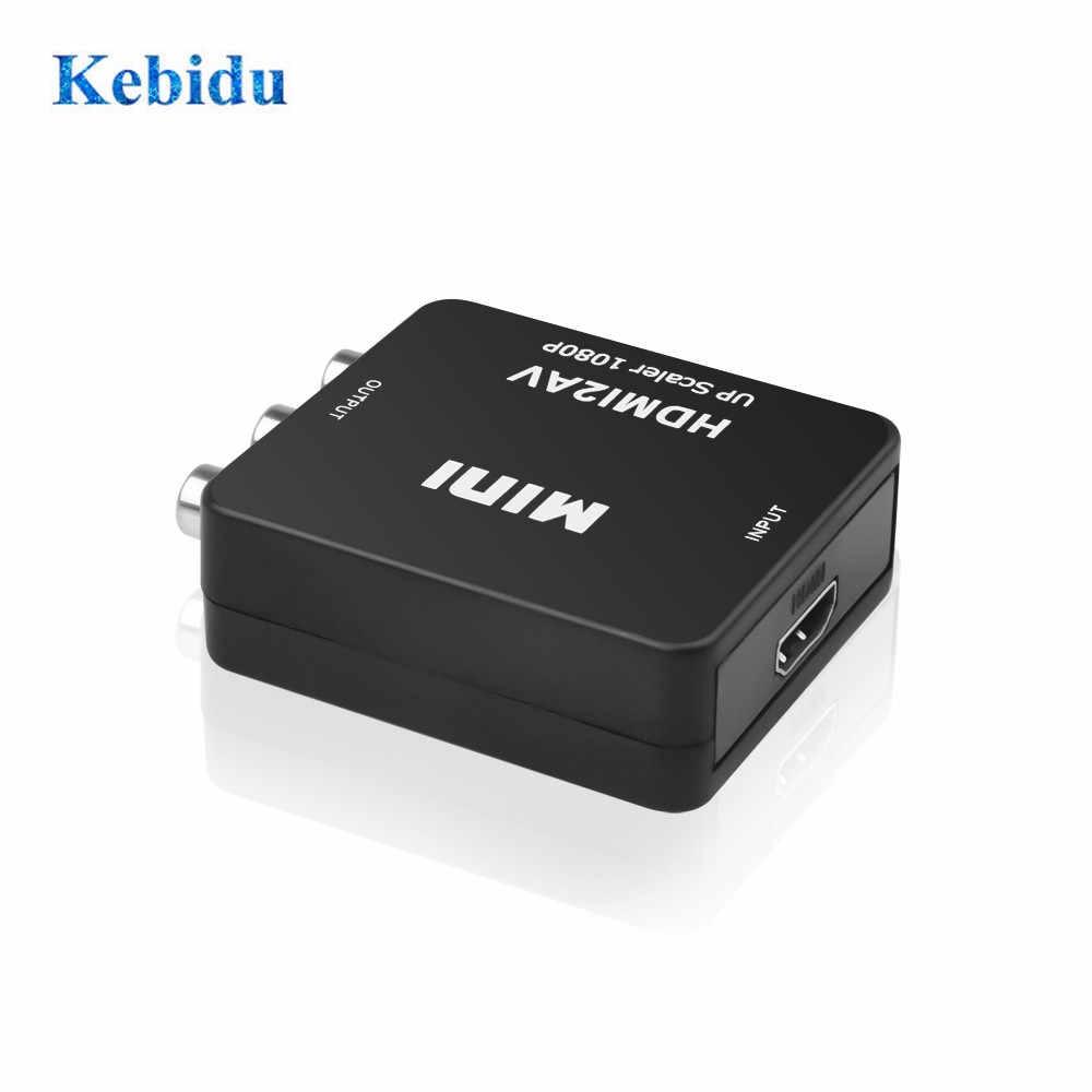Kebidu HDMI untuk RCA AV/Cvsb L/R Video Converter Kotak HD 1080P Chip 1920*1080 60Hz HDMI2AV Dukungan NTSC Pal Output Terbaru Grosir