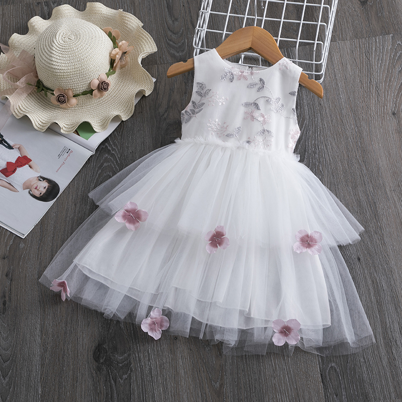 H403f155fec5e484a8258677dfe0aa4bd4 Lace Little Princess Dresses Summer Solid Sleeveless Tulle Tutu Dresses For Girls 2 3 4 5 6 Years Clothes Party Pageant Vestidos