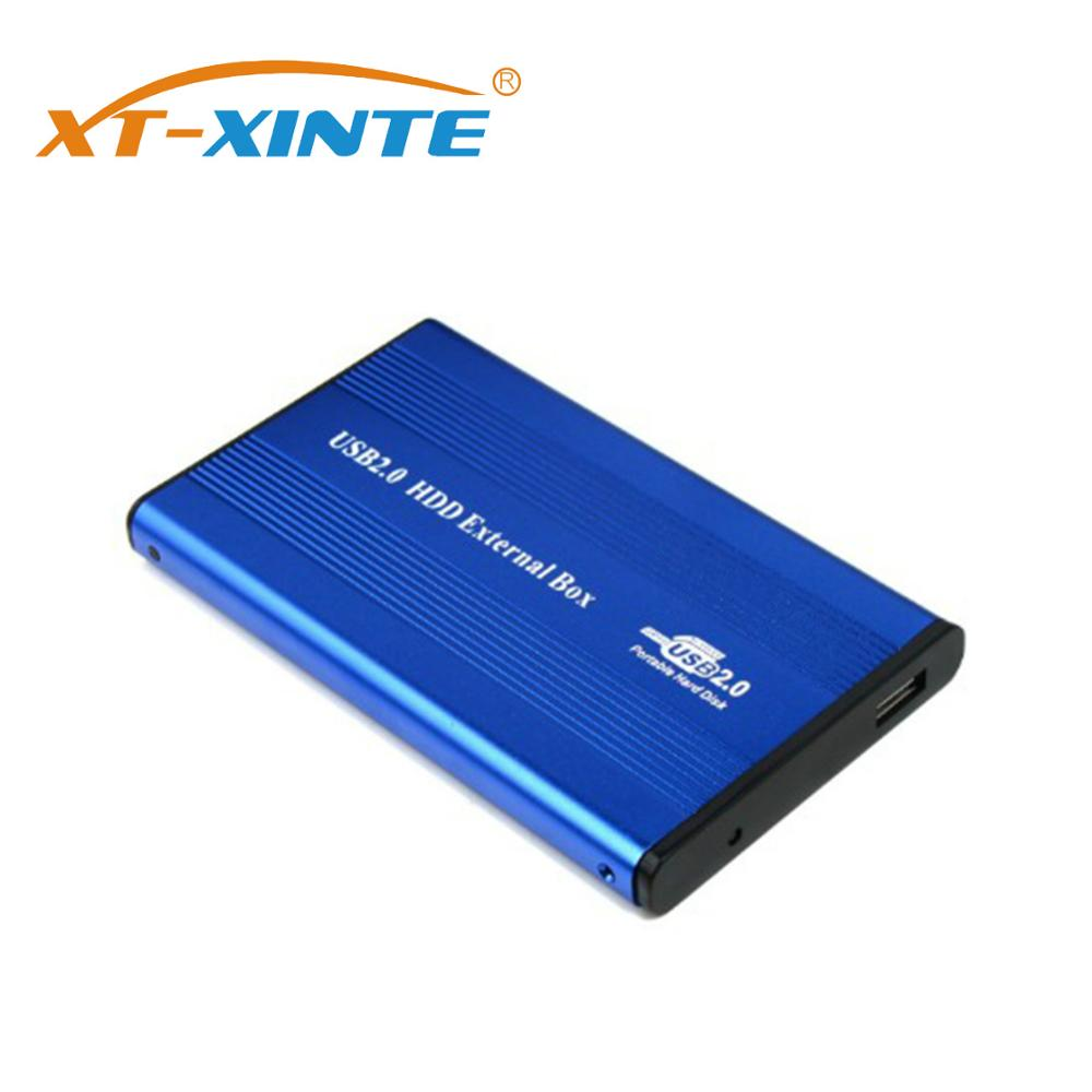 XT-XINTE USB 2.0 Notebook IDE Port Hard Drive Disk Enclosure Case External 2.5 Inch HDD Box Caddy Aluminum For Laptop Computer