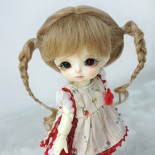 Аксессуары для кукол BJD парик из мохера светло-коричневый цвет-nati yosd