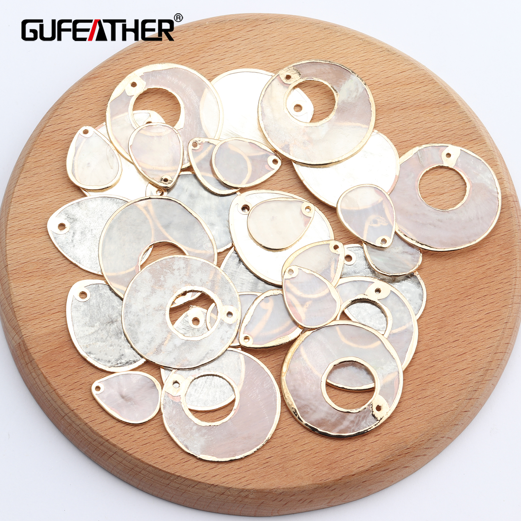 GUFEATHER M638,jewelry Making,diy Shell Pendant,jewelry Findings,charms,copper Metal,hand Made,diy Earrings,10pcs/lot