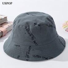 Панама uspop с буквенным принтом женская хлопковая шляпа от