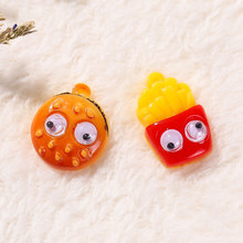 8pcs /lot Cute Mixed Artificial Fake Food flatback Resin hamburger and French fries Cabochon for diy Decoration(China)