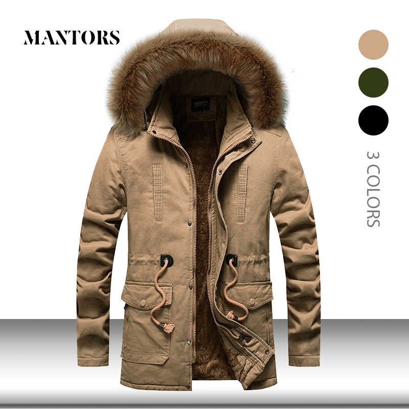 Winter Thick Men Parkas Coat Warm New Casual Jacket Mens Long Outwear Hooded Fur Collar Windbreaker Cotton-padded Parka Jackets