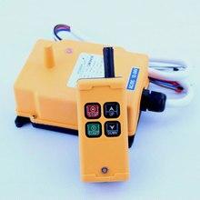 цена на Hoist Controller 4 Key Crane Industrial Remote Control Wireless Transmitter  Push Button Switch 110V