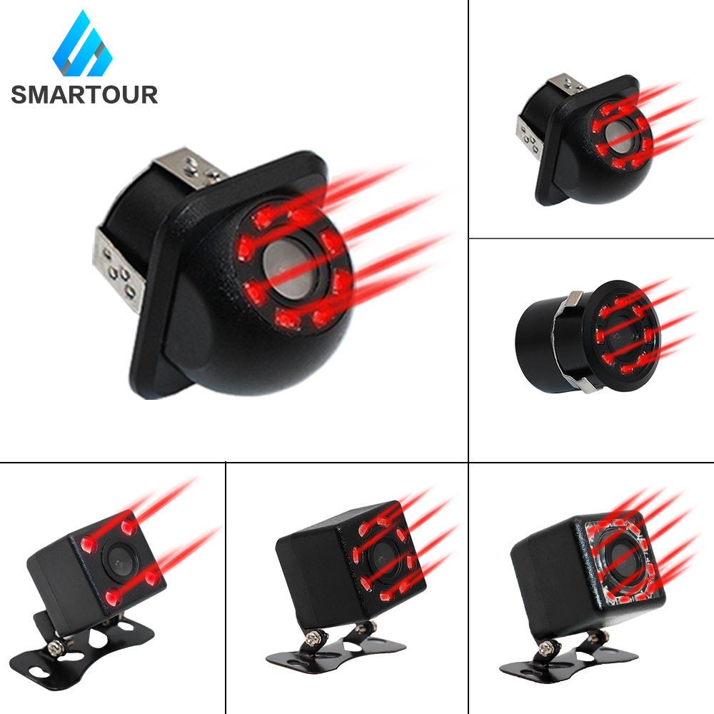 Smartour New HD Night Vision Car Rear View Camera Reverse Parking Camera Waterproof CCD LED Auto Backup  Infrared Led