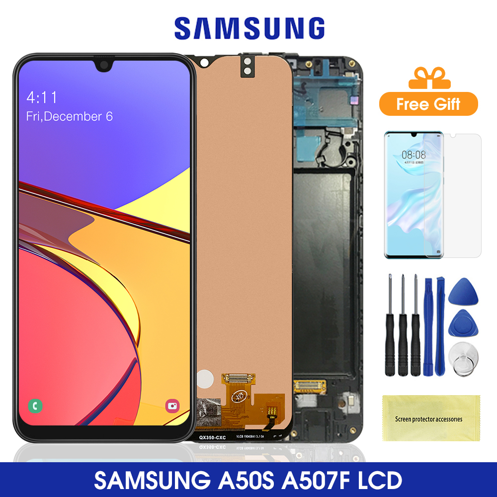 6.4'' <font><b>A50S</b></font> <font><b>Lcd</b></font> For <font><b>Samsung</b></font> <font><b>Galaxy</b></font> <font><b>A50S</b></font> <font><b>LCD</b></font> Display Touch Screen Digitizer Assembly Replacement For <font><b>Samsung</b></font> A507 Lcds image