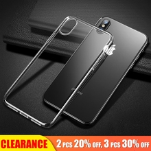 [Clearance] For iPhone 6 Case Soft TPU Luxury Transparent Full Back Cover 6S Clear Cases