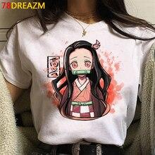Graphic Tees Tshirt Male Demon Slayer Funny Japanese Anime Kimetsu Tanjirou No-Yaiba