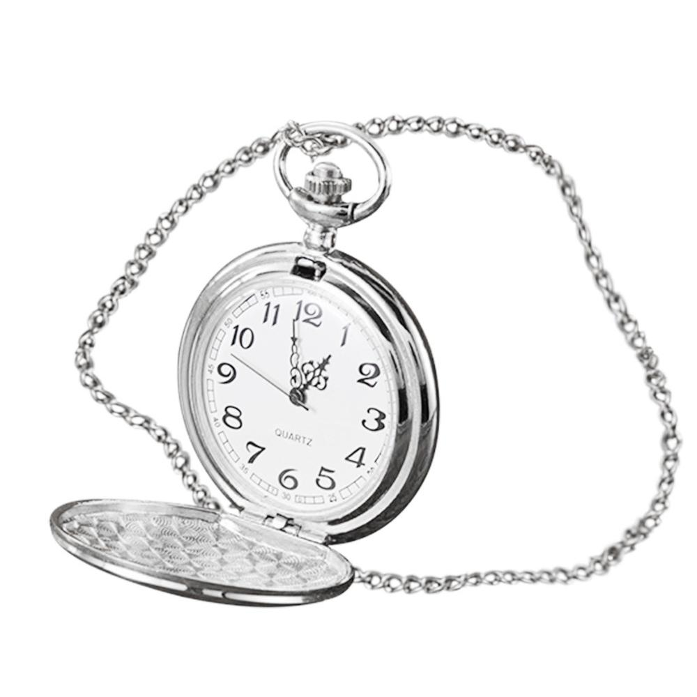 4.6cm Personality Fashion Retro Large Pocket Watch Engraved Quartz Pocket Watch Watch Clock Wholesale Relogio De Bolso #4O14
